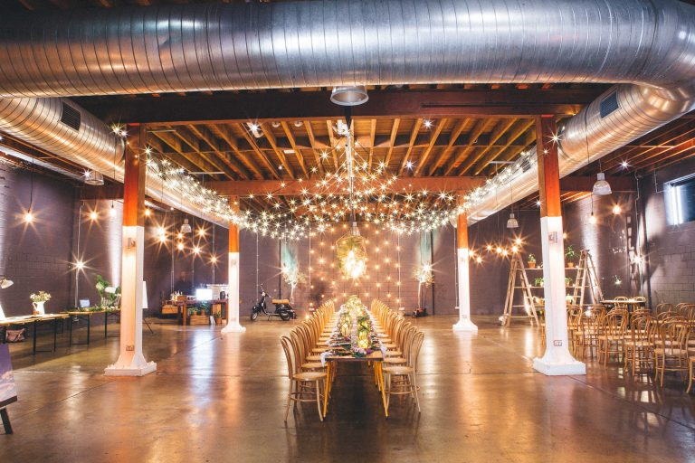 warehouse wedding decor weddings lightspace warehouse event venue 8365