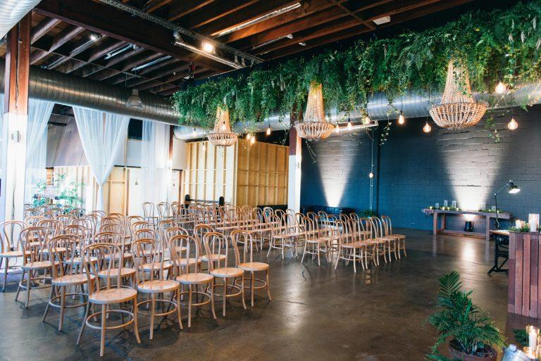 Wedding Ceremony Inspiration Lightspace Warehouse Event Venue